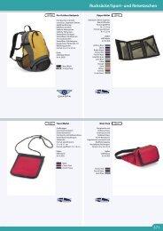 Rucksäcke/Sport- und Reisetaschen