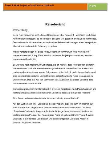 Reisebericht - Matthias Ambichl Portfolio