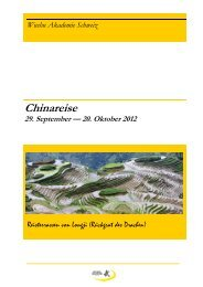 Chinareise 2012 - Wushu Akademie Schweiz