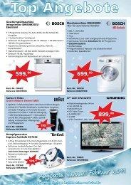 Angebote Januar/ Februar 2011 - Elektro Wildenhain