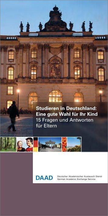 Studieren in Deutschland - Akademischen Auslandsamt