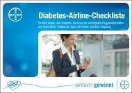 Bayer Diabetes-Airline Checkliste - Bayer Diabetes Care