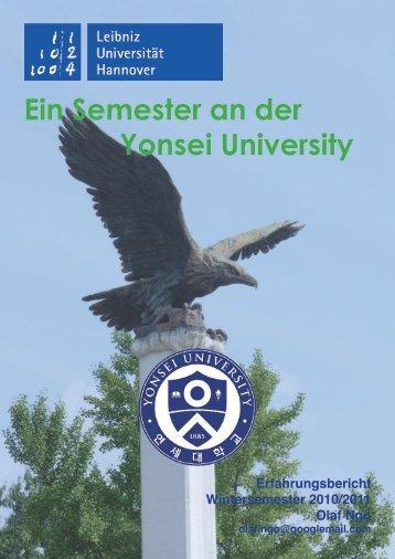 Erfahrungsbericht an der Yonsei University WS 2010/11