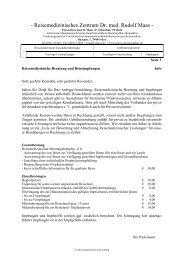 Reisemedizin Info und Auftrag.pdf - Praxis am Hansaplatz