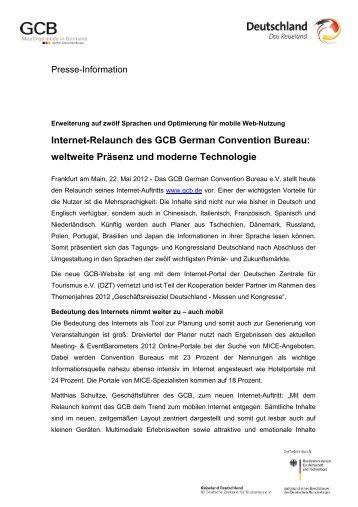 Internet-Relaunch des GCB German Convention Bureau