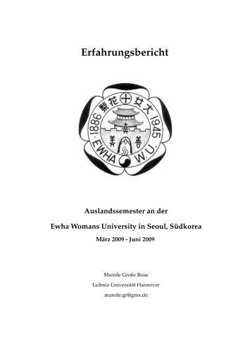 Erfahrungsbericht Auslandssemester an der Ewha Womans ...