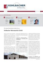 Entwurf zum Druck:Entwurf zum Druck.qxd.qxd - Kohlbacher GmbH