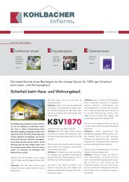 Sicherheit beim Haus- und Wohnungskauf. - Kohlbacher GmbH