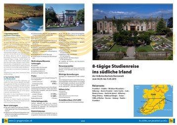 8-tägige Studienreise ins südliche Irland - vhs Darmstadt