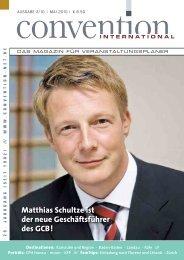 Matthias Schultze ist der neue Geschäftsführer des GCB!