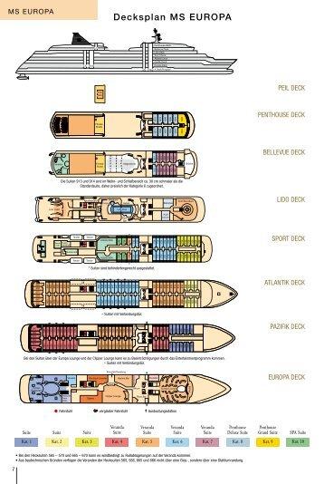 Decksplan und Kabinen - EWTC