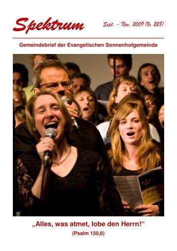 Gottesdienst - Sonnenhof-Gemeinde