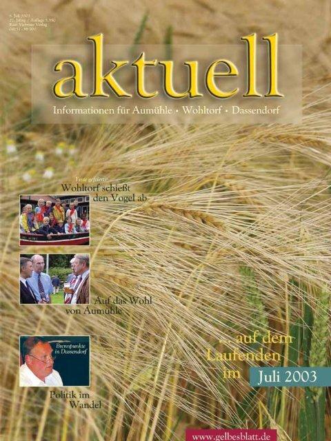 AWA07001 Aum.hle Wohltorf Aktuell 07/0, S.1-48 - Kurt Viebranz ...