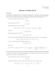 Solutions to Problem Set 45