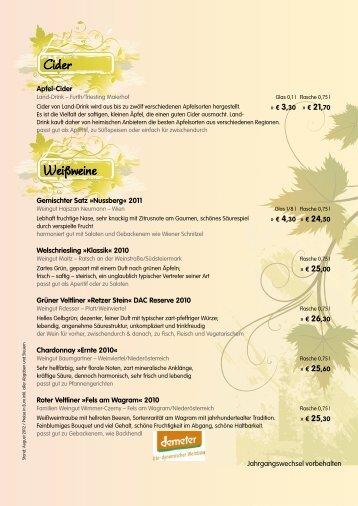 Weinkarte 2012