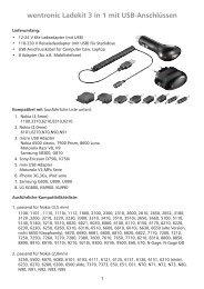 wentronic Ladekit 3 in 1 mit USB-Anschlüssen - memo WORLD