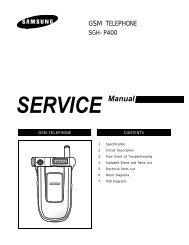 SERVICE Manual - Altehandys.de