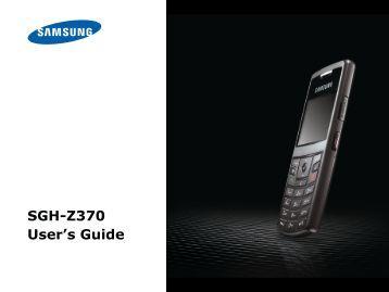 SGH-Z370 User's Guide - Altehandys.de