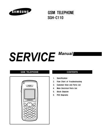 Samsung SGH-X490 service manual