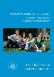 ECTS Student Information Booklet 2010-2011 - School of Business