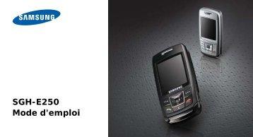 SGH-E250 Mode d'emploi - Choisissez un autre apparell - Base