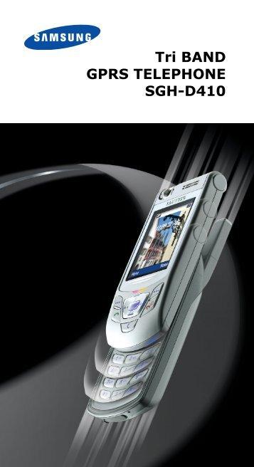 Tri BAND GPRS TELEPHONE SGH-D410 - O2