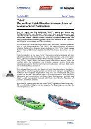 Tahiti : Der zeitlose Kajak-Klassiker in neuem Look mit ... - Campingaz