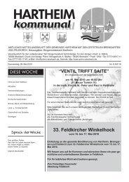 33. Feldkircher Winkelhock - Gemeinde Hartheim