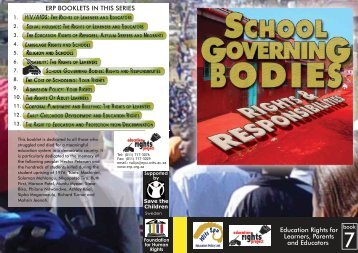 School Governing Bodies - Education Rights Project