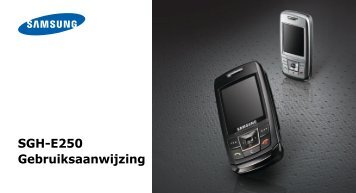 SGH-E250 Gebruiksaanwijzing - Toestelhulp