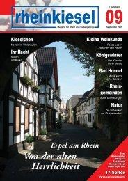 Erpel am Rhein Von der alten Herrlichkeit Erpel am ... - Rheinkiesel