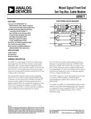 AD9877 Mixed-Signal Front End Set-Top Box ... - Analog Devices