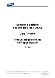 Samsung Satellite Set-Top Box for VIASAT DSB - H670N Product ...