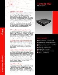Tornado M50 IPTV Set-Top-Box Brochure - SysMaster