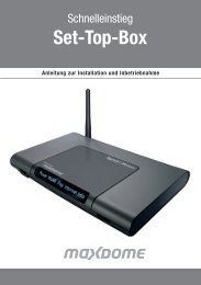 Set-Top-Box - 1&1 Hilfe Center - 1&1 Internet AG