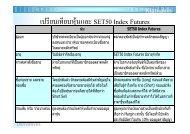 เปรียบเทียบหุนและSET50 Index Futures - KKS