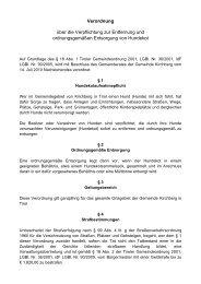 Hundekotaufnahmepflicht (32 KB) - .PDF - Gemeinde Kirchberg in ...