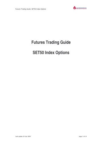 Futures Trading Guide: SET50 Index Options