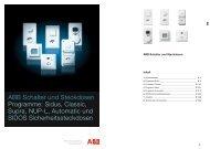 ABB Schalter und Steckdosen Programme: Sidus, Classic, Supra ...