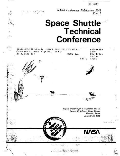 Space Shuttle Technical Conference - NASA Office of Logic Design