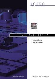 ROTEC-Prospekt Mess-Adapter - Rotec GmbH