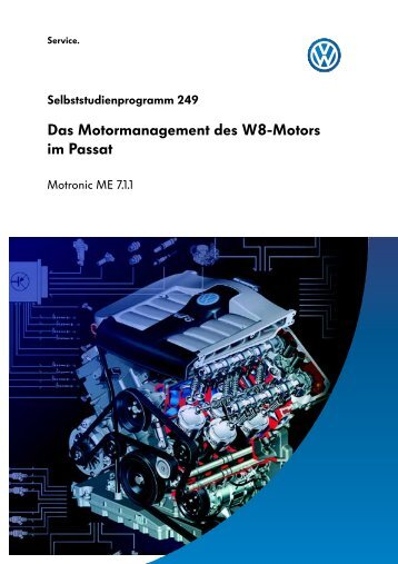 Das Motormanagement des W8-Motors im Passat