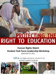 Human Rights Watch Student Task Force Leadership Workshop