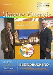 Unsere Energie - Stadtwerke Vlotho