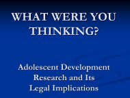 What Were You Thinking-Legal Implications of Adolescent