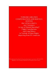 TURKISH AIRLINES COMPENSATION AND SERVICE SYSTEM that ...