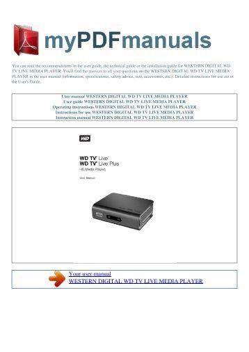 User manual WESTERN DIGITAL WD TV LIVE MEDIA PLAYER - 1