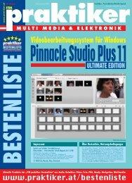 Pinnacle Studio Plus 11 Ultimate Edition: Amateur ... - praktiker.at