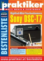 Sony DSC-T7: HighEnd-Mini-Taschenkamera - ITM praktiker ...
