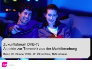 DVB-T: Aspekte aus der Marktforschung - Media Broadcast